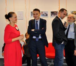 Na zdjęciu Agata Gawska – Prezeska Zarządu Fundacji Aktywizacja iMinister Wojciech Kaczmarczyk