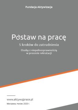 Broszura – 5 kroków dozatrudnienia