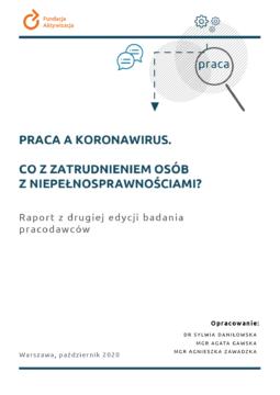 Druga edycja badania pracodawców: Praca akoronawirus. Co zzatrudnieniem osób zniepełnosprawnościami?